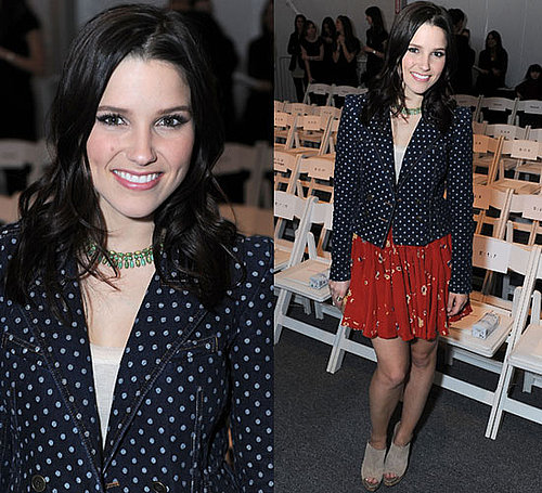 Sophia Bush at Rebecca Taylor 2010 Fall New York Fashion Week Show
