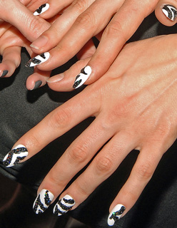 Sequin Zebra Manicure at The Blonds