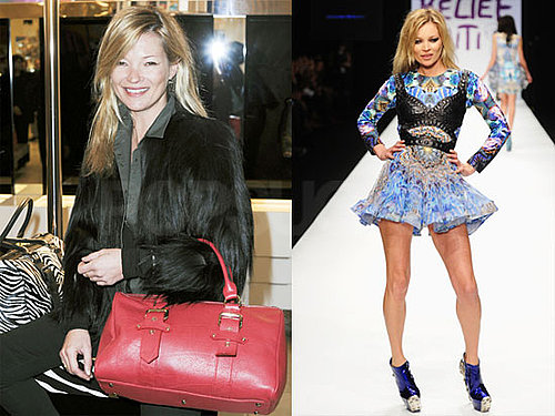 Photos of Kate Moss Debuting Her Longchamp Bags in London