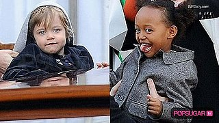 Video: Zahara & Shiloh Out With Brad & Angelina