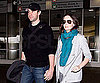 Slide Photo of John Krasinski and Emily Blunt at LAX