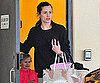 Slide Photo of Jennifer Garner and Violet Affleck Leaving School