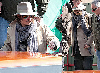 Photos of Johnny Depp in Venice, Where He's Set to Film The Tourist With Angelina Jolie