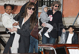 Photos of Shiloh, Zahara and Pax Jolie-Pitt with Angelina Jolie and Brad Pitt in Paris