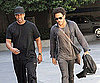 Photo Slide of Denzel Washington And Lenny Kravitz Going to a Lakers Game