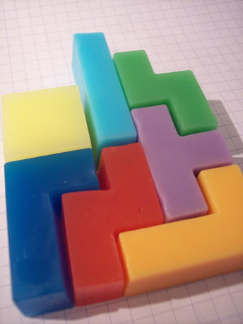Tetris-Shaped Soap ($10)