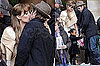 See Brad and Angelina's Passionate Kiss as He Brings Shiloh and Zahara to Visit on Set