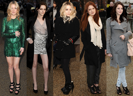 Photos of Celebrities at the Burberry Autumn Show in London