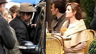 Video of Brad Pitt and Angelina Jolie and Video of Angelina Jolie Filming The Tourist