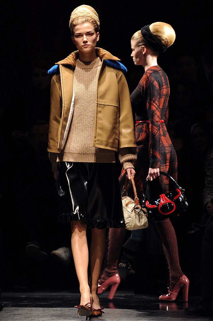 Miuccia Prada Flies Victoria's Secret Models in for Demure Fall 2010 Prada Show