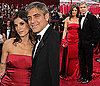 Photos of George Clooney and Elisabetta Canalis at the 2010 Oscars