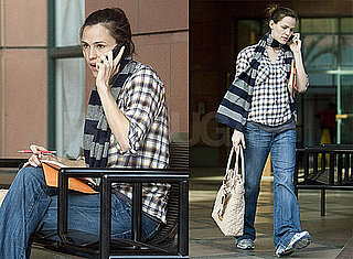 Photos of Jennifer Garner Writing Things Down While Running Errands in LA