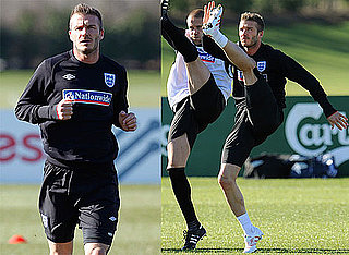 Photos of David Beckham Practicing With AC Milan Before Their Match Against Egypt in London 2010-03-02 11:32:47