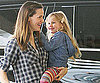 Slide Photo of Jennifer Garner and Violet Affleck in LA