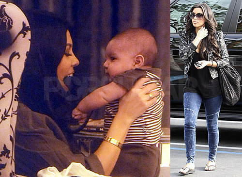Photos of Kim Kardashian, Kourtney Kardashian and Baby Mason Dash Disick Filming Kourtney and Khloe Take Miami