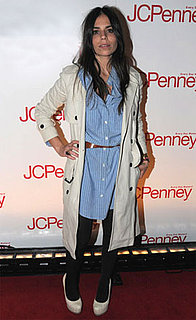 Photo of Ally Hilfiger in Striped Shirt Dress at JCPenney Best of Spring Showcase in NYC
