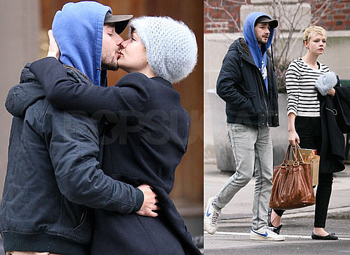 Photos of Wall Street 2 Costars and Real Life Couple Shia LaBeouf and BAFTA Winner Carey Mulligan Kissing in New York City