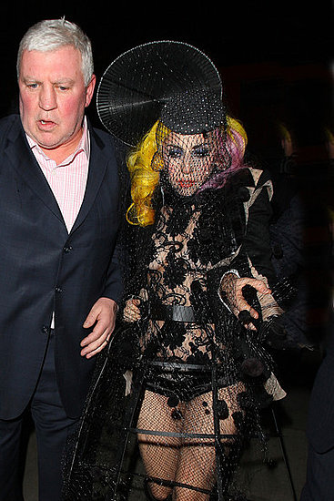 Lady Gaga emerges out of the Buddha Club in London in the early hours of the morning