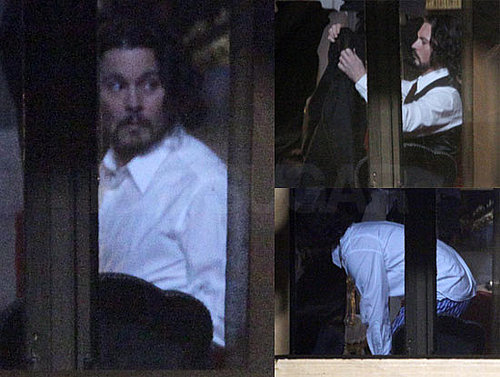 Photos of Johnny Depp's Boxers on Set of The Tourist in Venice