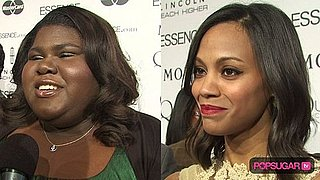 Gabourey Sidibe and Zoe Saldana at 2010 Essence Black Women in Hollywood Luncheon