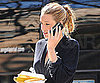 Slide Photo of Blake Lively on Gossip Girl Set in NYC