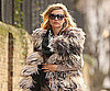 Slide Photo of Kate Moss Wearing Fur in London