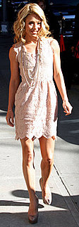 Kelly Ripa Wears Stella McCartney Lace to David Letterman