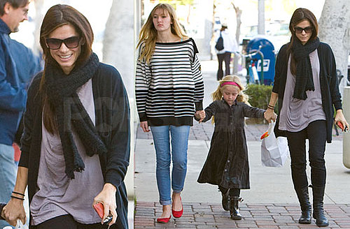 Photos of Sandra Bullock Post-Oscar Win With Stepdaughters