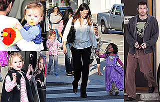 Photos of Ben Affleck, Seraphina Affleck, Violet Affleck, and Jennifer Garner in LA