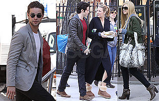 Photos of Blake Lively, Chace Crawford, Filming Gossip Girl