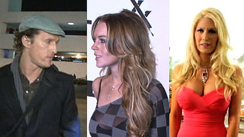 Matthew McConaughey and His Kids in LA, Lindsay Lohan E-Trade Lawsuit, and Heidi Montag Funny or Die Video