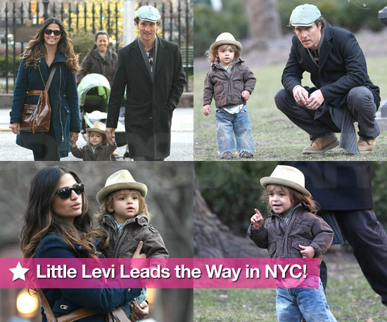 Slideshow of Photos of Matthew McConaughey and Camila Alves With Levi in New York