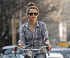 Slide Photo of Keri Russell Riding her Bike in New York