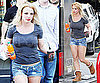 Photos of Britney Spears in Shorts and Uggs Walking Into A Gas Station