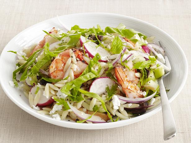 Spinach-Orzo Salad With Shrimp Recipe | POPSUGAR Food