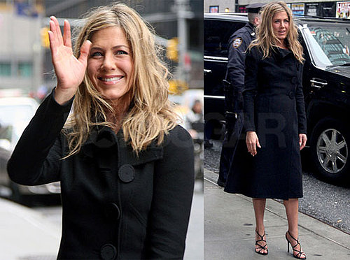Photos of Jennifer Aniston and Gerard Butler Going to Letterman