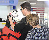 Slide Photo of Josh Hartnett and Puppy at LAX
