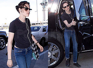 Photos of Kristen Stewart at LAX Headed to NYC For The Runaways Premiere