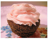 Pretty-in-Pink Brownie Cupcakes