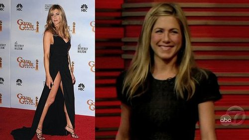 Jennifer Aniston Talks With Regis and Kelly About Her Golden Globes Dress