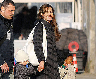 Slide Photo of Angelina Jolie and Shiloh and Zahara