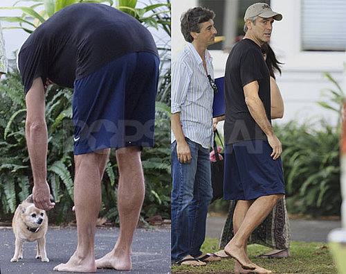 Photos of George Clooney Filming The Descendants