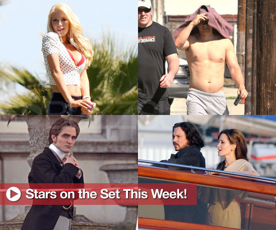 Photos of Stars on Set Angelina Jolie in Venice, Mark Wahlberg Shirtless, The Tourist Pictures