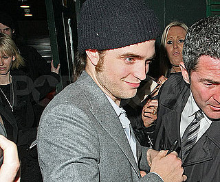 Slide Photo of Robert Pattinson Wearing a Beenie Hat After the London Remember Me Premiere