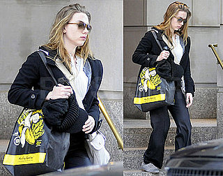 Photos of Scarlett Johansson Leaving Her NYC Apartment