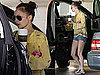 Photos of Nicole Richie Wearing Short Denim Shorts, Flip Flops and Sunglasses in Los Angeles