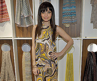 Slide Photo of Nicole Richie Wearing a Yellow Missoni Dress in LA