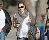 Slide Photo of Amy Adams Pregnant in LA