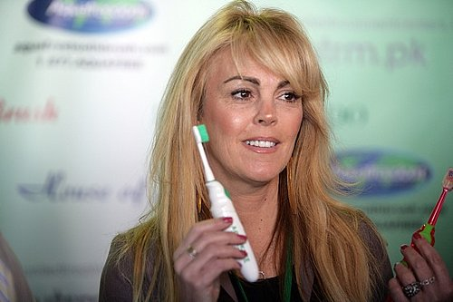 "Dina Lohan Introduces the ""Aqua Freedom Green Lohan Toothbrush"""