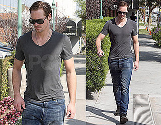 Photos of Alexander Skarsgard Walking Around LA Without Girlfriend Kate Bosworth